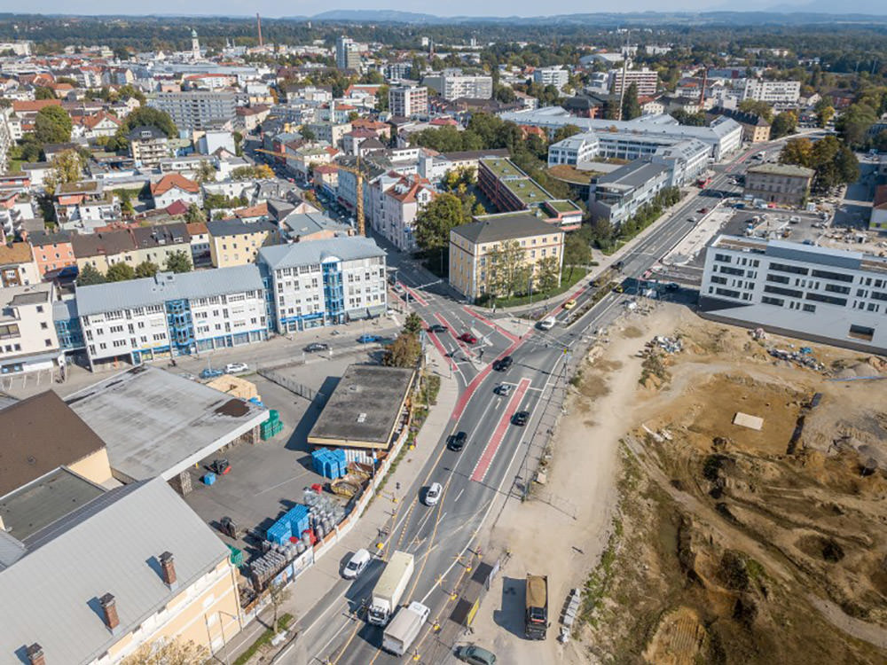 Infra Ingenieurbüro - Ausbau der Luitpoldstraße in Rosenheim mit Radfahrstreifen und Gehwegen in Teilbereichen - 3