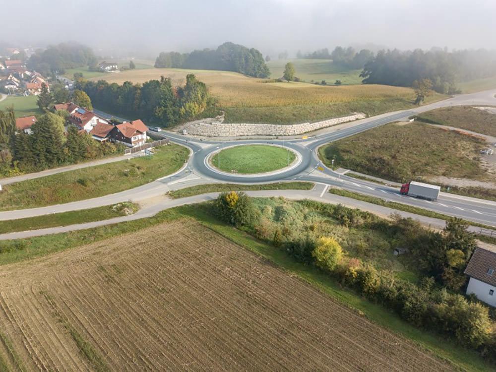 Infra Ingenieurbüro - Projekt Kreisverkehrsplatz Dorfen - Perspektivisch