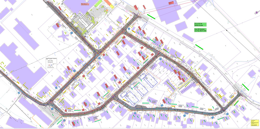 Erschließungen - Sanierung Gartensiedlung -Straßenentwurf